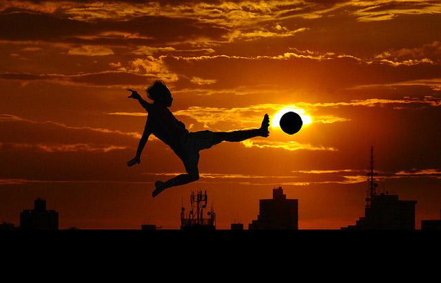 Voetballer-zon
